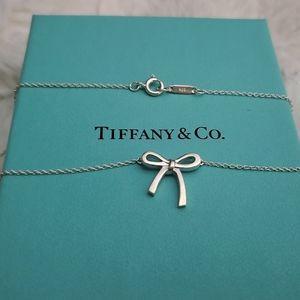 RETIRED Tiffany Mini Bow Pendant Necklace